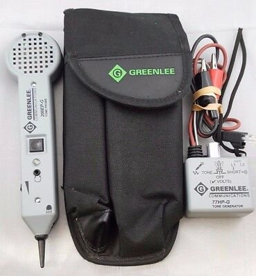 Greenlee Communications 200EP-G Tone Probe & 77HP-G Tone Generator- INV#938259
