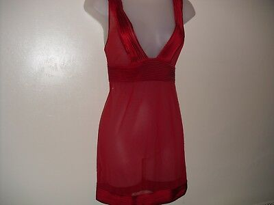 La Perla Slip in Red with matching Thong UK Size 12 BNWT