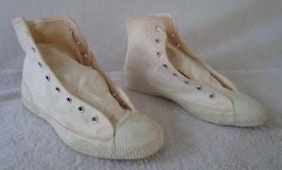 DEADSTOCK NOS VINTAGE 1950's 60's COLBY BASKETBALL HI-TOP CANVAS SHOES 5