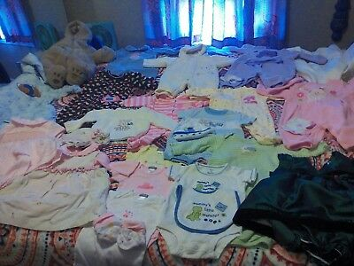 HUGE Baby Girl Fall Winter Clothes lot sz 0-3 3-6 Carters Okie-Dokie BARELY WORN