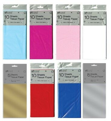 Coloured Tissue Paper Sheets Large Acid Free 50x70cm Luxury Plain Gift Wrapping