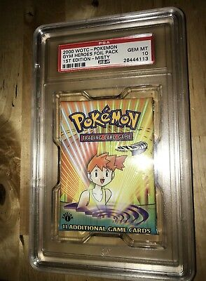 Pokemon Booster Pack - 2000 Gym Heroes 1 st edition - Misty - PSA 10.
