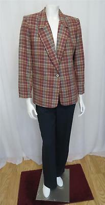 Christian Dior adorable Vintage wool plaid blazer jacket size M