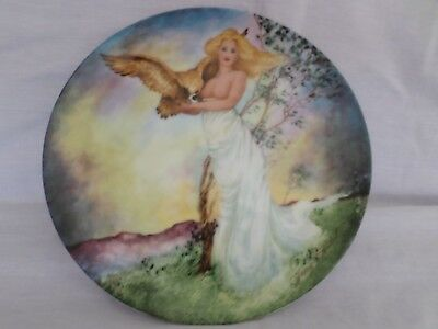 Edwin M. Knowles The Four Ancient Elements 1985 Le ''air'' Decorated Plate