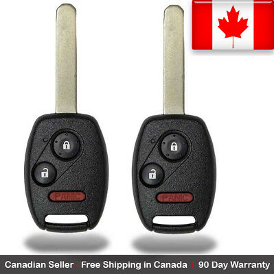 2x New Replacement Keyless Entry Remote Control Key Fob For Honda Accord CRV CRZ