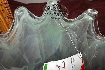 NEW Murano Art Glass Bowl Pastel Blue Colors Made in Italy ~ Tammaro Home - 1