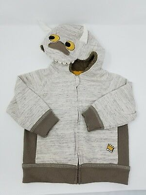 Where The Wild Things Are Hoodie Jacket 18 Month Toddler coat costume