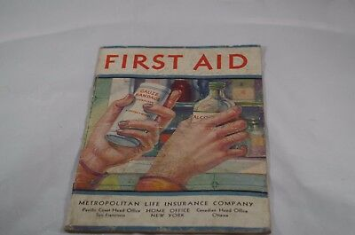 Vintage Advertising First Aid Booklet Metropolitan Life Insurance Company