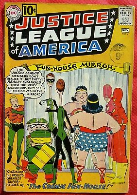 Justice League of America 7 DC Silver Age 1961 fn-