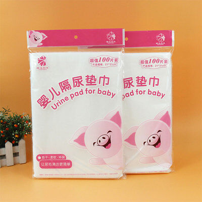 100Pcs/Bag Infant Disposable Non-Woven Diaper Urine Pad Baby Nappy Soft