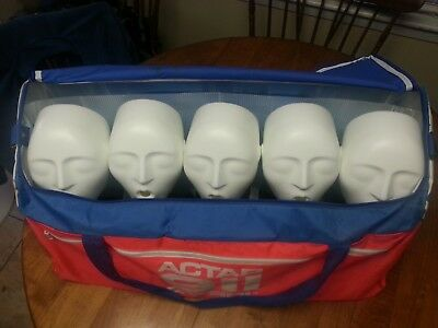 Actar 911 Patrol CPR Training EMT Manikin Set w/ 5 Dummies and carry bag