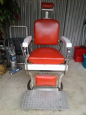 Vintage Antique Koken Barber Chair