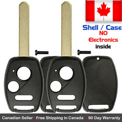 2x New Replacement Keyless Key Fob For Honda & Acura - Shell / Case Only