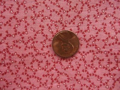 ~Back In Time Textiles~Antique 1860 Cinnamon Dble pink Fabric~
