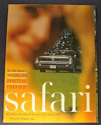 1963 Pontiac Intro Safari Magazine Brochure Bonneville Grand Prix Tempest LeMans