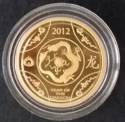 2012 Australia year of the Dragon 3.11 grams Gold ( .999 ) $10 Proof coin