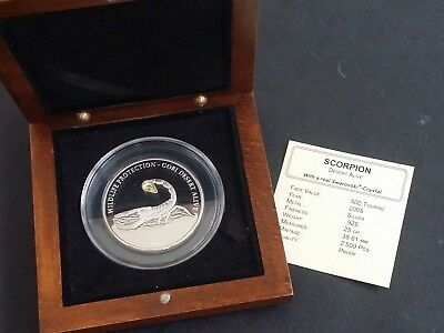 2005 Mongolia Scorpion 25 grams  Silver (.925) 500 Tögrög Proof coin