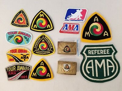 lot 13 AMA GYPSY TOUR AWARD 1964 1965 1966 patch + 1955 1959 belt buckle + more