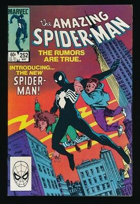 Amazing Spider-Man #252 Marvel Comic 5/84 1St Appearance Black Costume Unpressed