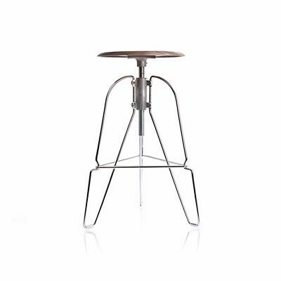 Covey Stool by Covey Studio. Brand-new in box. Walnut finish, adjustable seat.