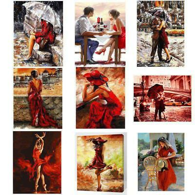 AU France Ladies Paint By Numbers Kits Digital Oil Painting Canvas Home Decor