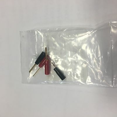 RadioShack Gold Plated Flat Pin Connectors 4 Pack