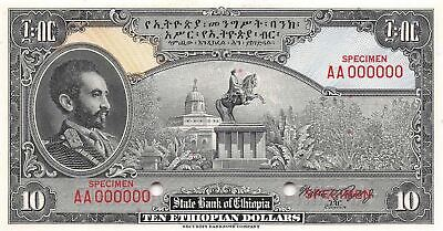 Ethiopia  $10  ND. 1945  P 14s  Specimen Series AA Uncirculated Banknote