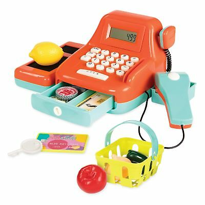 Kids Pretend Play Toy Cash Register Money Coins Shopping Food Grocery For Girls