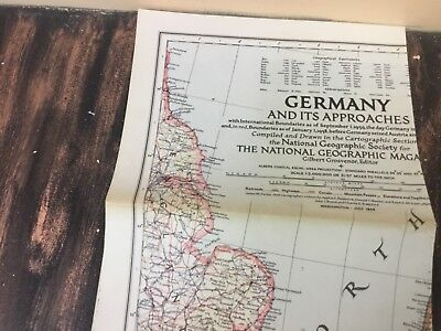 Vintage lot of 10 National Geographic Maps 1920's -1950's