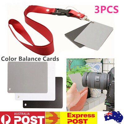 18% Grey Cards White Balance Card Set for Digital Photography with Neck Strap