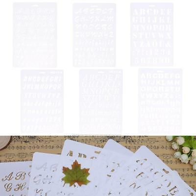 UN3F Lettering Stencil Letter Alphabet Stencils Painting Paper Craft Number Word