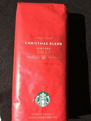 Starbucks Christmas Blend 1 lb Vintage 2016 Unopened Whole Bean Coffee