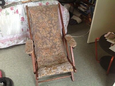 "Edwardian Steamer/reclining ""Stranvic"" upholstered Chair"