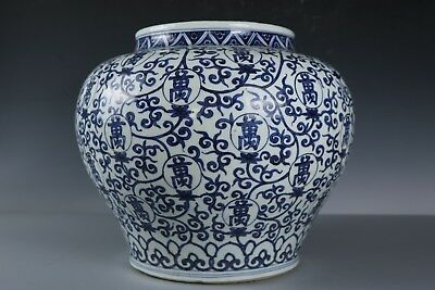 Chinese Beautiful Big Blue and white Porcelain Jar
