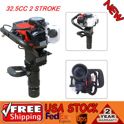 32.5cc 2 Stroke Gasoline Gas Pile Powered Driver Engine T Post Push Fence Pipe