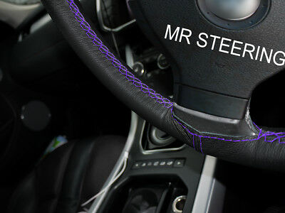 Fits Mercedes Axor Truck 05-12 Leather Steering Wheel Cover Purple Double Stitch