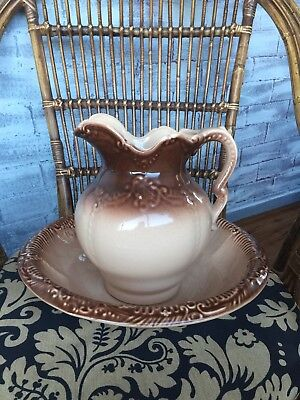 Antique reproduction federation style Jug and Bowl