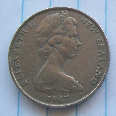 New Zealand 1967 20 cent