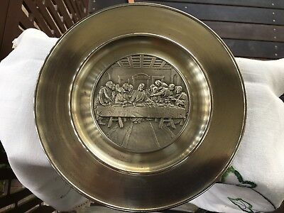 Selangor Pewter Plate/Wall Plaque (The Last Supper) (Cash at Pickup preferred)