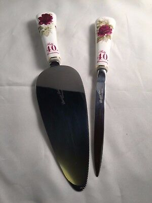 Ruby 40Th Anniversary Cake Slice / Letter Opener Set
