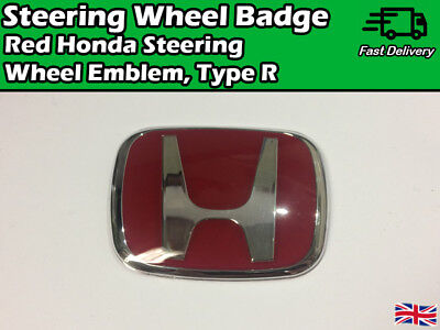 Red Steering Wheel BADGE Sticker 3M For Honda Civic Jazz Accord CRV Type R FK FN