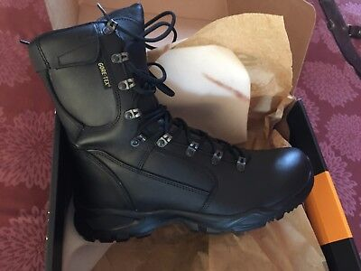 *NEW* British Army YDS Black Swift Temperate Leather GoreTex Boots Size 9M