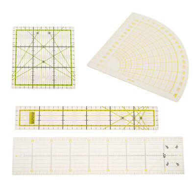 Prettyia Plastic Rectangle/Square/Sector Quilting Ruler Patchwork Sewing Ruler