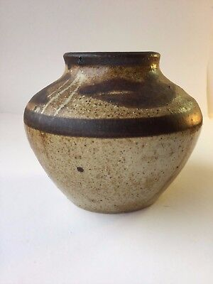 Small Brown Studio Pot - Marked CW