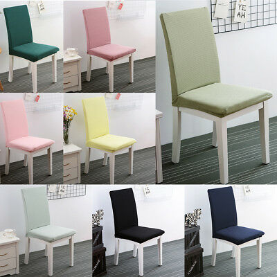 Seat Covers Kitchen Bar Dining Chair Cover Slipcover Hotel Wedding Decor 8Colors