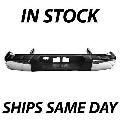 NEW Complete Chrome Steel Rear Bumper Assembly for 2014-2018 Toyota Tundra 14-18