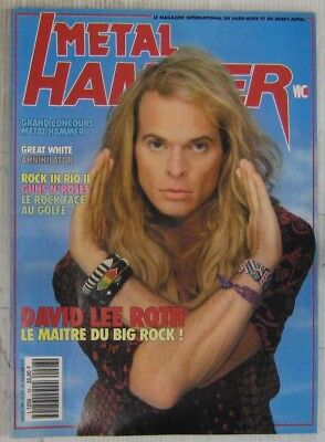 Revue Metal Hammer Février 1991 David Lee Roth Great White Annihilator Guns'n Ro