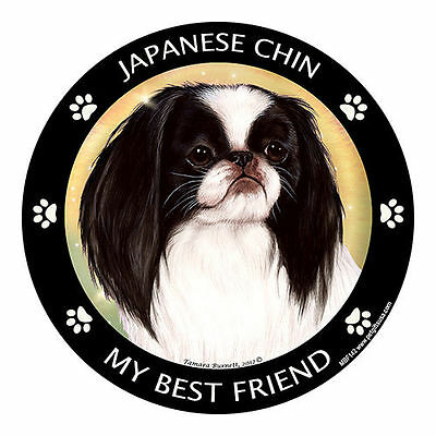 My Japanese Chin Is My Best Friend Dog Car Magnet