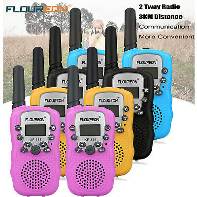 FLOUREON 8CH Kinder Walkie Talkie Set UHF400-470MHz Two-Way Funkgeräte 3KM Range
