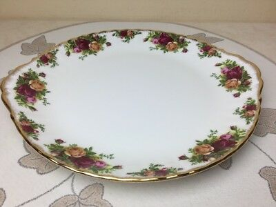 Royal Albert Old Country Roses Very Large Cake Plate 1962 Mint Unused 12.1/4""